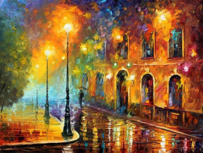 colorful painting best beautiful leonid afremov vivid colored oil acrylic water color (11)